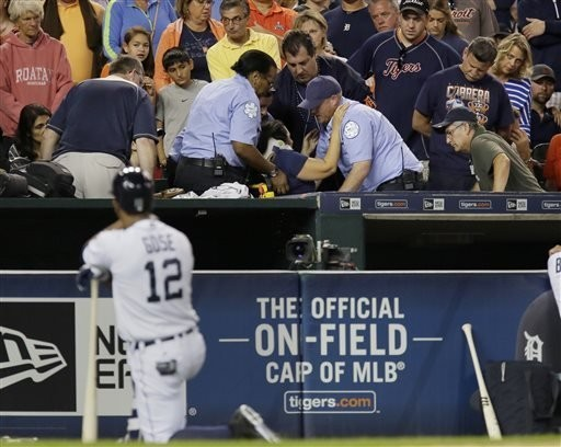 Tigers say injured fan released from hospital