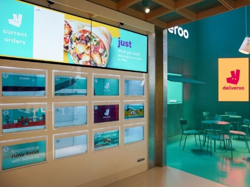 A $2 billion takeout company have opened a food market where you can order sushi and burgers without interacting with a single human