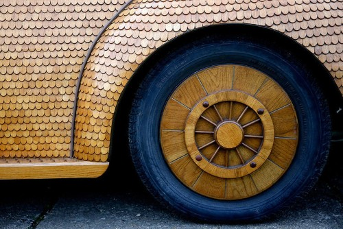 A 71-Year-Old Man Built A Fully-Functioning Volkswagen Beetle Out Of Wood