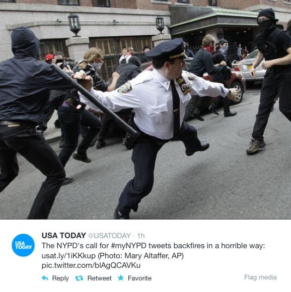 The NYPD Promoted Itself On Twitter, And Twitter Filled Up With These Images Of Police Brutality