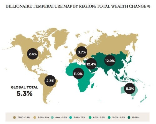 Here's Where Billionaire Wealth Is Growing Fastest Around The Globe [MAP]