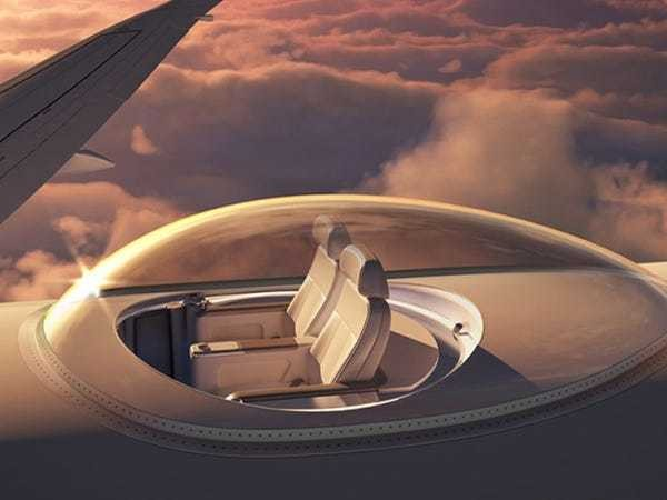 Business travelers may soon be able to fly in glass bubbles on top of private jets - Business Insider
