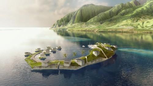 Floating city designs reveal a push for autonomous living