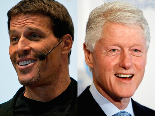 How celebrity life coach Tony Robbins started working with President Bill Clinton