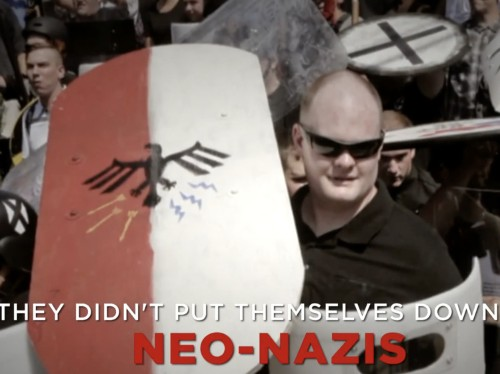 A top Democratic group is running a chilling ad linking Trump to white supremacists