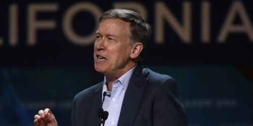 John Hickenlooper mistaken for a reporter at the Democratic debates