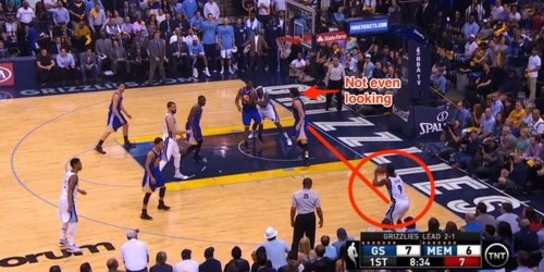 The Warriors came up with a new strategy where they barely guarded a Grizzlies player, and it worked perfectly