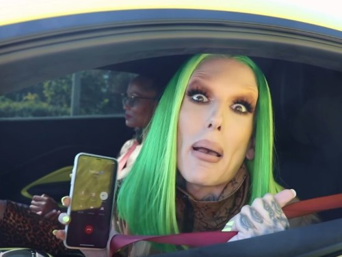 Jeffree Star surprised his boyfriend with a $150,000 lime green Aston Martin Vantage