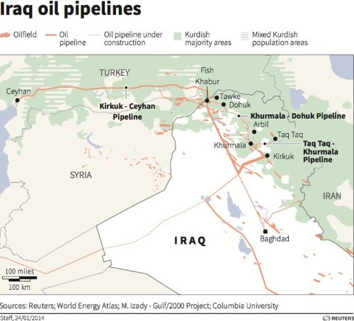 Iraqi Kurds Send Israel First Oil Delivery From Disputed Kurdish Pipeline
