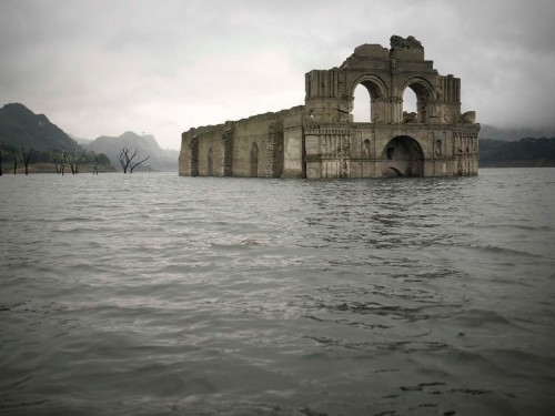 A drought in Mexico has revealed the ruins of a 16th-century church