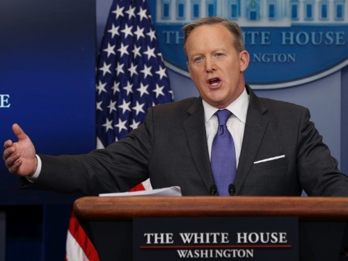 Sean Spicer cites a nonexistent Atlanta terror attack on 3 occasions, says he meant to say Orlando
