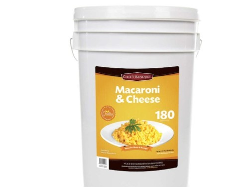 Costco is selling a 27-pound tub of mac and cheese that lasts 20 years