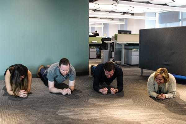 We Went To SurveyMonkey, Where Engineers Use Treadmill Desks And Do Planks Between Coding - Business Insider