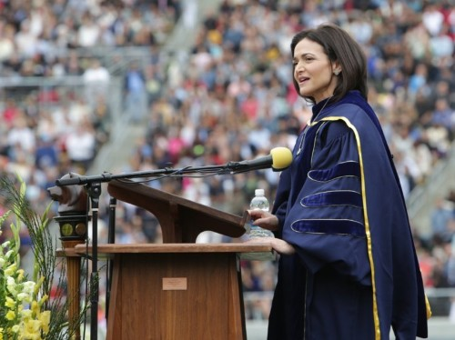 Sheryl Sandberg spoke about her husband's death in public for the first time in an emotional speech