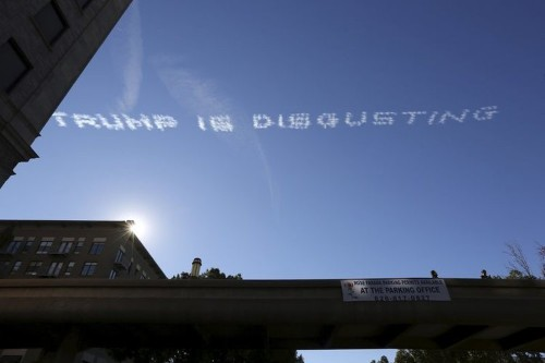 5 planes wrote 'Trump is disgusting' in the air over California's annual Rose Parade