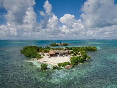 You can rent an entire island resort near Belize where a 'privacy meter' keeps staff from disturbing you