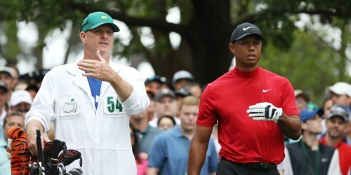 Tiger Woods reportedly cursed himself out in a bathroom in private after 2 straight bogeys, then rebounded to win the Masters with some simple advice from his caddie