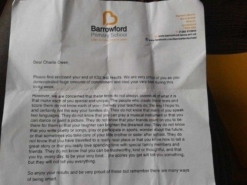 'There Are Many Ways Of Being Smart': Encouraging School Letter About Student Test Results Goes Viral