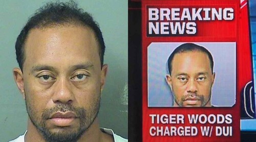 ESPN is being accused of altering Tiger Woods' mugshot to make his hair look better, but it may have just been a sloppy crop