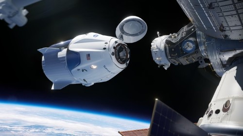 SpaceX docks Crew Dragon spaceship to the space station for first time