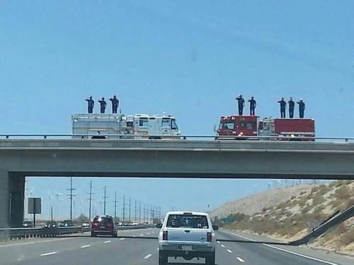 Photo Captures Stunning Highway Tribute To Fallen Arizona Firefighter