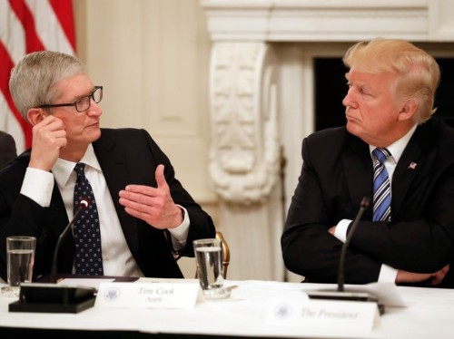 Apple CEO Tim Cook has met Donald Trump five times in past year