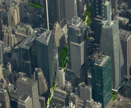 An architect wants to turn New York's busiest avenue into an enormous park