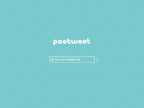 This Website Will Turn Your Tweets Into Poetry
