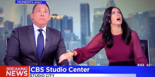Videos of sports games and newscasts pause for California earthquake