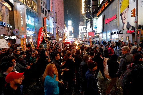 Huge protest over Donald Trump in New York City