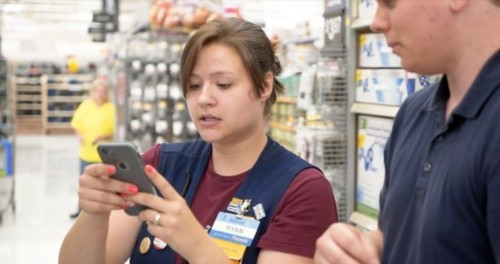 Walmart allows employees to use cell phones during work