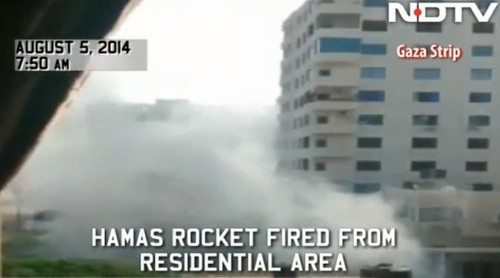 Hamas Caught On Video Firing Rockets From A Densely Packed Residential Neighborhood