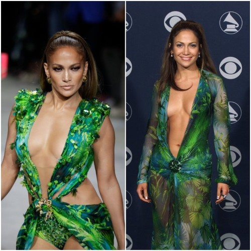How J-Lo's Versace Grammys dress inspired Google image search