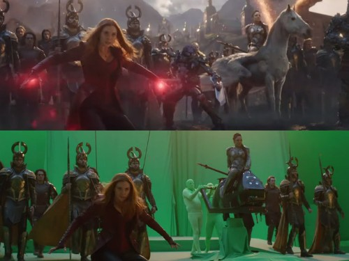 10 photos that show how the big battle in 'Avengers: Endgame' looks without visual effects