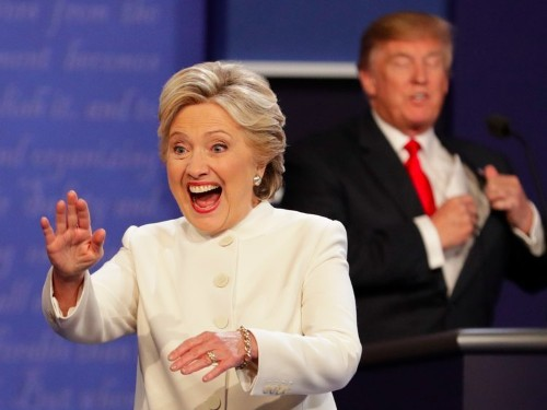 Hillary Clinton beat Donald Trump at his own debate game
