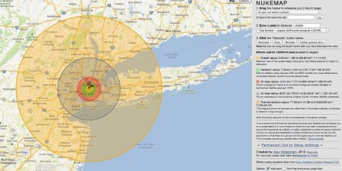 This Scary Interactive Map Shows What Happens If A Nuke Explodes In Your Neighborhood