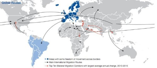 The 15 most popular countries for migrants