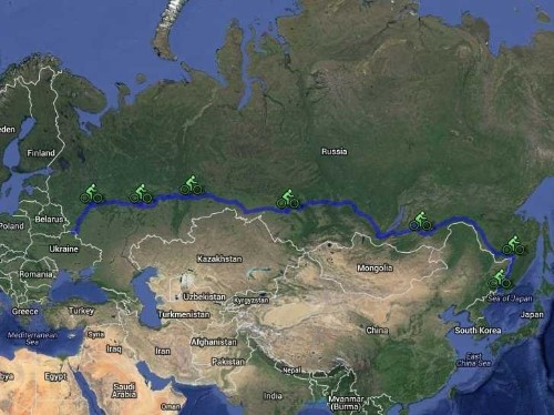 Two Americans Take A 10,000-Mile Bike Ride Across Russia