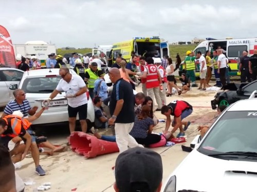 British millionaire injures 26 people as he crashes his Porsche into a crowd