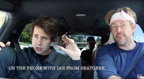 YouTube star David Dobrik fans recreate SeatGeek ad on dentist drugs
