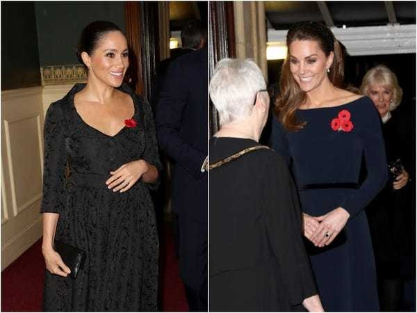 Meghan Markle, Kate Middleton attend Remembrance Festival - Business Insider