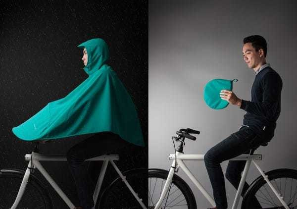 This wearable tent makes sure that bikers never get wet - Business Insider