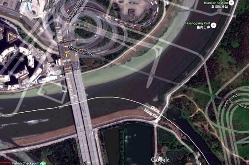 A very weird thing happens when you try to look at China in Google Earth