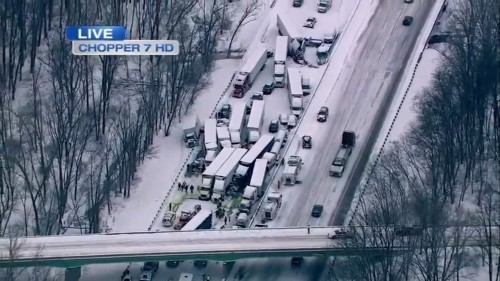 At Least 2 Dead In Massive Pileup Involving 'Too Many Vehicles To Count' Near Chicago