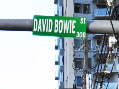 Someone illegally changed a Texas street sign in honor of David Bowie, and officials are letting it slide