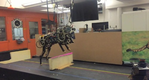 MIT's creepily-quiet cheetah robot can now jump over hurdles all on its own