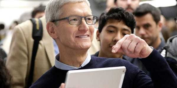 Tim Cook explains how Apple is crushing its sales to businesses - Business Insider