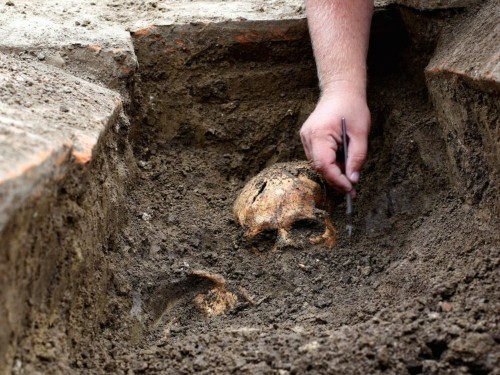 Dead bodies move around in graves during decomposition for a year