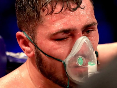 David Allen sent to hospital after stoppage loss to David Price