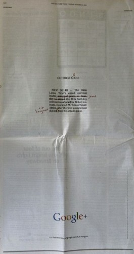 Here's The Print Ad From Google That Won A $1 Million Prize